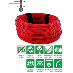 CABLE EVA 1.5 MM  ROJO